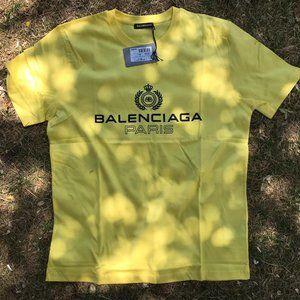 Balenciaga Paris Logo Print Casual TShirt